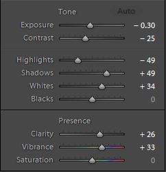 The new tone controls in Lightroom 4 and 5.